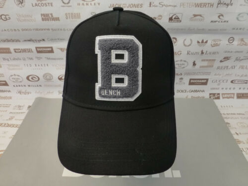 BENCH Berretto Da Baseball Cappello Nero DURAND Cotone Strutturato Tonale LOGO SPORT CAPS NUOVO CON ETICHETTA