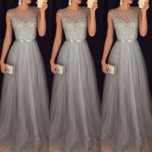 Women-Lace-Long-Dress-Cocktail-Party-Evening-Formal-Wedding-Prom-Gown-Maxi-Dress