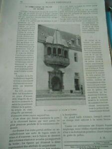 Actif Le Commissaire De Police De Colmar Gravure Old Print 1896 Longue DuréE De Vie