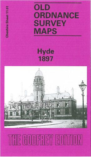 OLD ORDNANCE SURVEY MAP HYDE 1897 CHEAP SIDE SYDDALL STREET TRIANON MILL