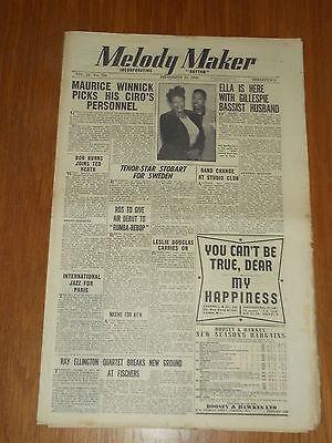 Koop Goedkoop Melody Maker 1948 #790 Sept 25 Jazz Swing Ella Fitzgerald Ted Heath Ellington Nieuwe Rassen Worden Na Elkaar GeïNtroduceerd
