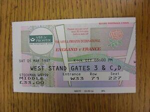 01-03-1997-Rugby-Union-Ticket-England-v-France-At-Twickenham
