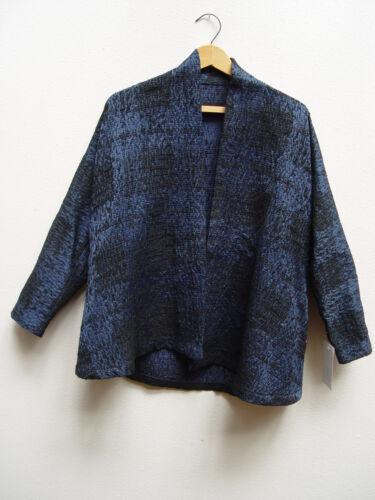 Blouson Style Zara Roulé Bleu Col Nwt Blazer Kimono zEwWWqRf