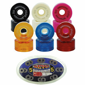 Indoor-Roller-Skate-Wheels-and-8mm-Bearing-Medallion-96A-with-Bevo-Abec-5