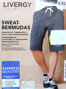 BANDTILEHerren Bermuda Sweat Kurze Hose Sommerhose Übergröße XL XXL 3XL 4XL 66 68 70 NEU