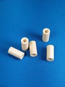 """3 Ivory Colored Juma Capped /& Threaded Ferrules Pool Cues Ferrules  1.00/"""" Long"""