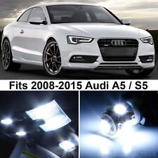 14 x Premium Xenon White LED Lights Interior Package Upgrade for Audi A5