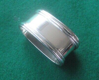 FäHig Kl. Schlichter Ovaler Serviettenring Ungraviert, 835er Silber, G. Bechte Pforzh. 100% Garantie