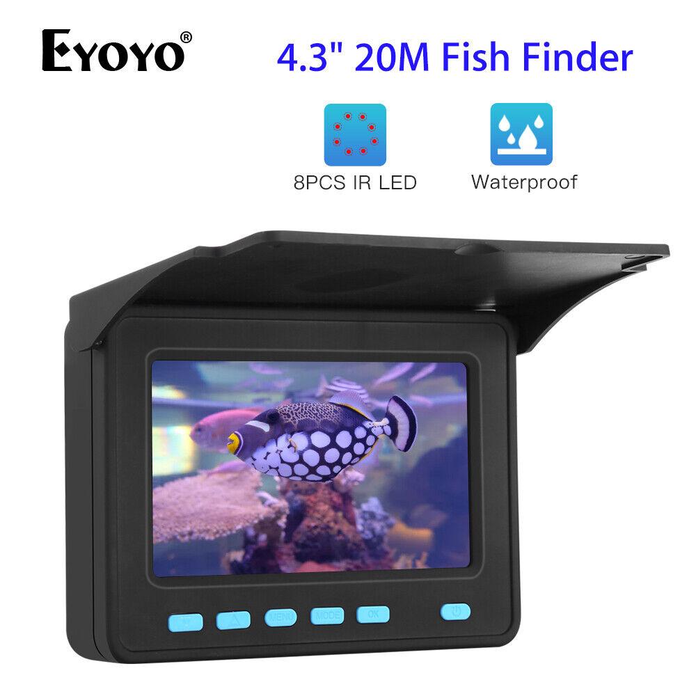 Buscador De Peces eyoyo 4.3  20M 1000TVL + Projoector de sol pesca submarina cámara de vídeo