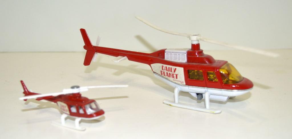 Corgi Toys 929 Superman diario Planeta Jet helicóptero & Corgi Jr helicóptero de reacción
