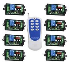 AC 110V 220V RF Wireless Remote Control Switch System 8CH 1xTransmitter+Receiver