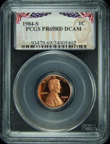 1984-S PCGS PR69RD DCAM Lincoln Cent PRESIDENTIAL LABEL