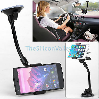 Car Windshield Suction Cup Holder Mount for 3.5 inch -5.7 inch Smart Phone New
