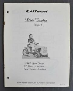 image is loading vintage-gilson-8hp-lawn-tractor-owners-manual-36-