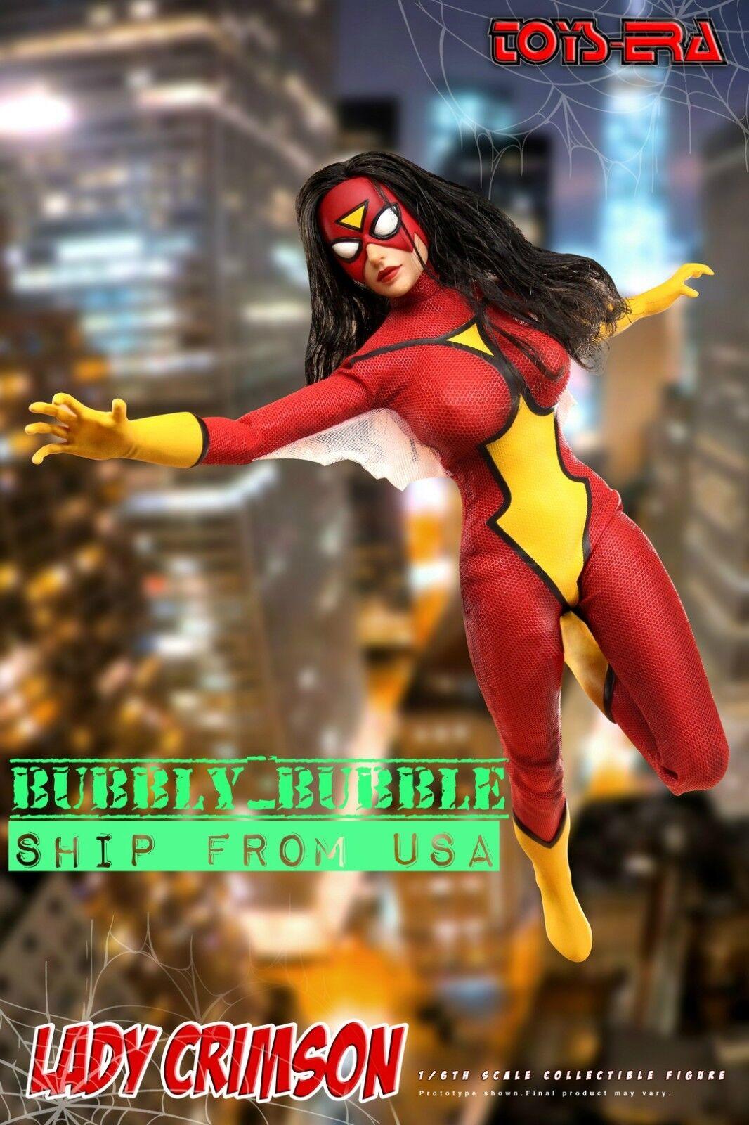 Escala 1/6 Mujer Araña Toys era TE020 Dama carmesí 12 figura  Estados Unidos en existencias