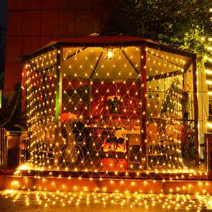 image is loading led net mesh christmas fairy string lights wedding