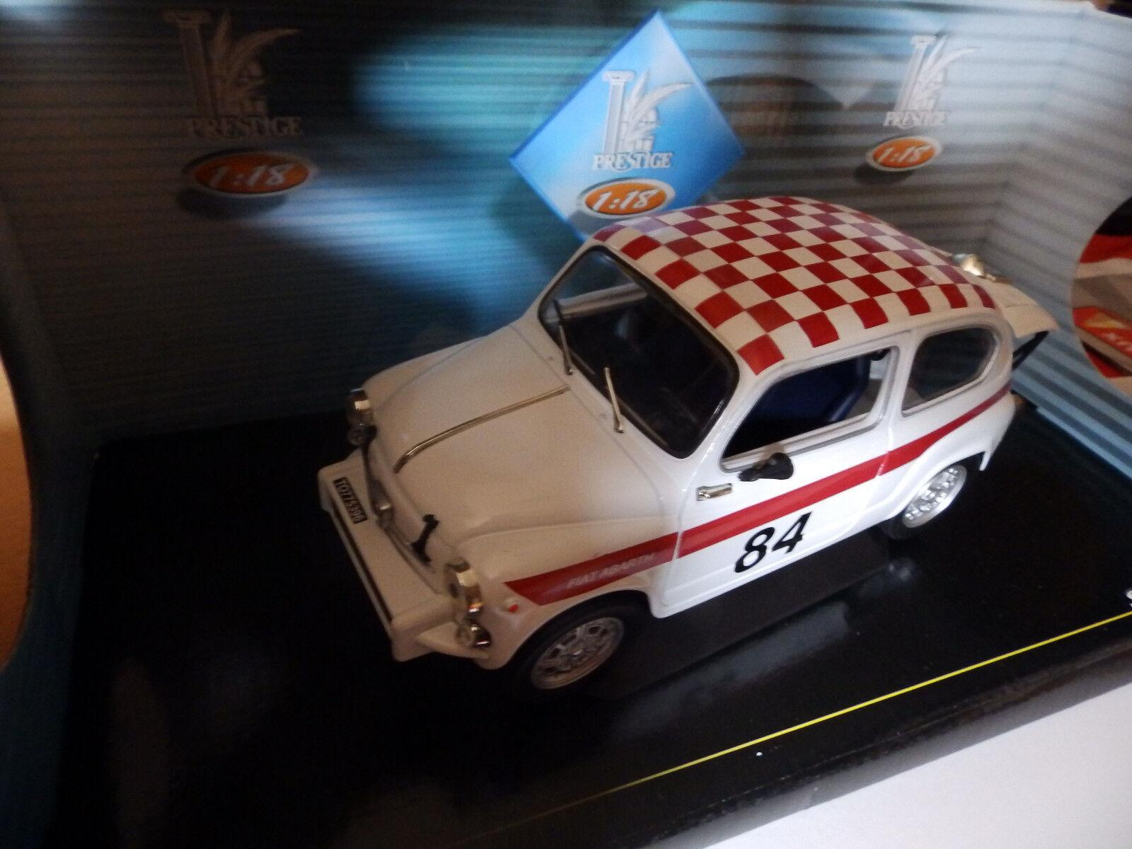 SOLIDO 1 18. Fiat 850 Abarth 1961 Nº 84 dans sa boite d'origine