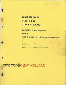 Details about NEW HOLLAND 283 AND SELF PROPELLED 1283 BALERS PARTS CATALOG