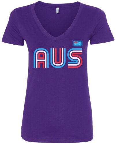 Australia Athletic Retro Series Women/'s V-Neck T-Shirt Soccer