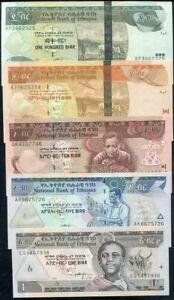 ETHIOPIA Africa set of 3 1,5,10 Birr UNC all 2006 p-46,47,48