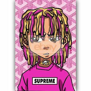 Custom Silk Poster Wall Decor Lil Pump