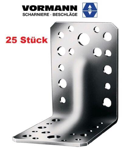 Sicke 25 Stück V4A Vormann edelstahl Schwerlastwinkel 70 x 70 x 2mm