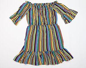 Papaya Womens Multicoloured Striped  Shift  Size 12