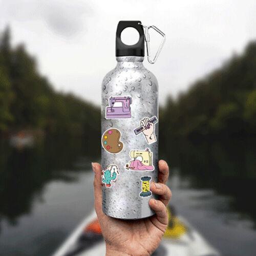 Details about  /50 PCS Cartoon Sewing machine Waterproof Sticker DIY Suitcase Graffiti Sticke hi