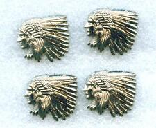 4 x  Conchos Conchas Indianer Kopf  Western