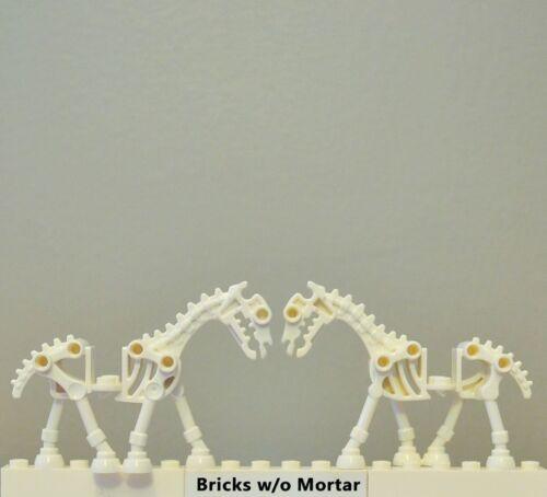 New Genuine LEGO 2 White Skeletal Horses Horse Skeleton Castle 7079 7092