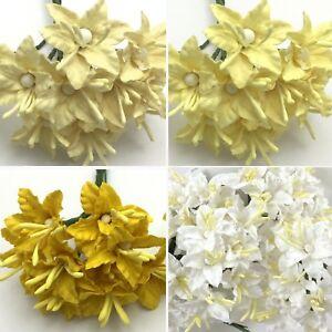 Amount Variation Mini Lily Paper Flower Wedding Scrapbook Rainbow 427//LY3
