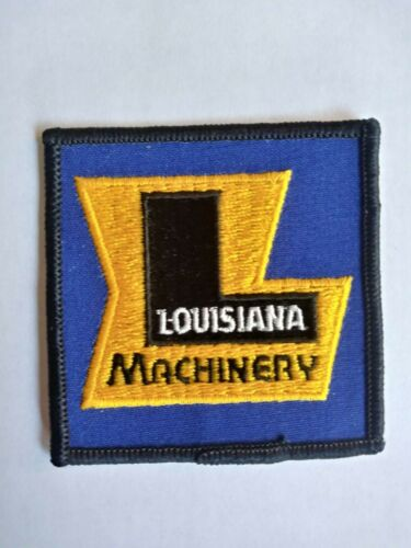 LOUISIANA Machinery Patch// Construction Vehicles//  Advertising// Collectible.