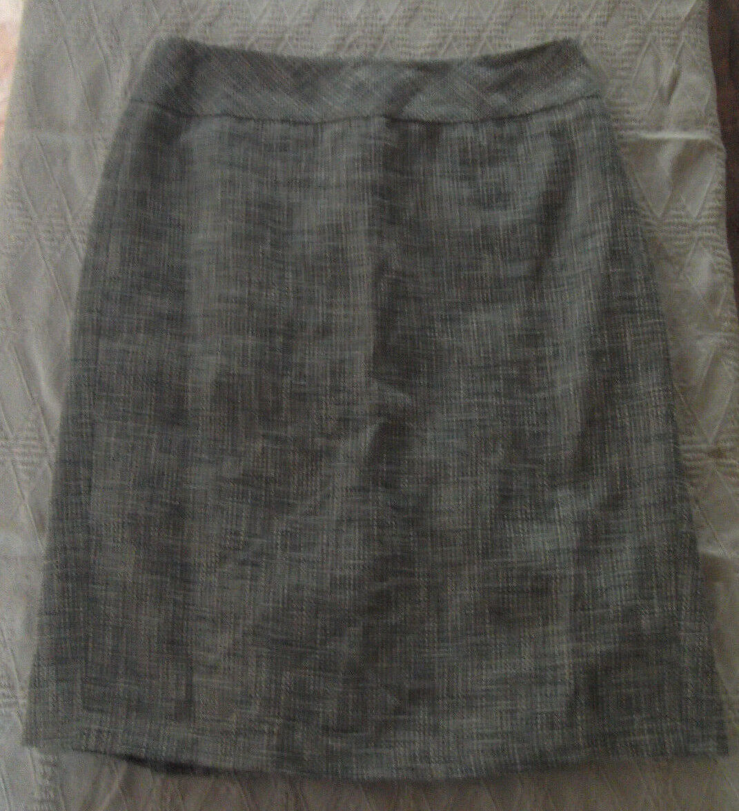 Ann Taylor bluee White & Beige Woven Cotton Linen Blend Skirt Misses Size 4