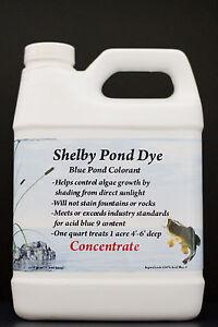 Adaptable Shelby Pond Dye 1 Qt Concentré, 100% Acide Bleu 9-afficher Le Titre D'origine