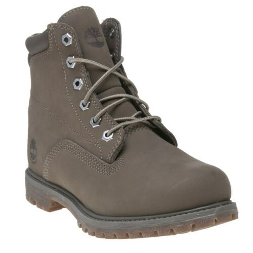Lace Ankle Grey Timberland New Waterville Up 6` Boots Womens Nubuck 081OTU