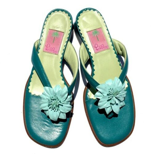 Lilly Pulitzer Flip Flops 8.5 flower sandals shoes