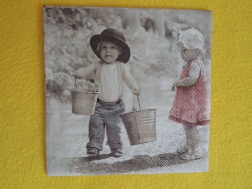 20 SERVIETTES the Gentleman Fille Garçon Enfants 1 boîte neuf dans sa boîte Seau ambiance