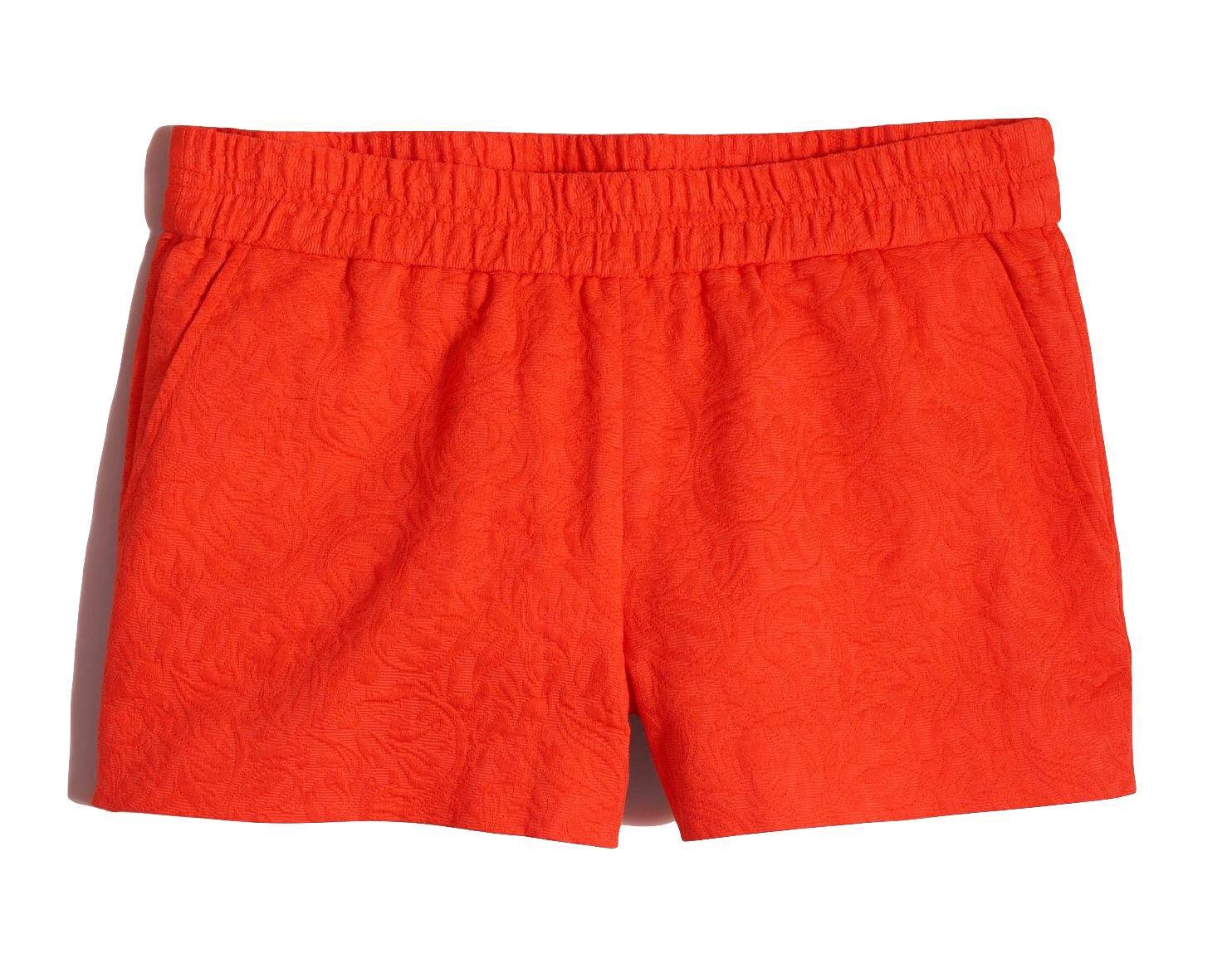 J Crew Factory - Women's 8 (M) - Fiery Sunset Floral Jacquard Boardwalk Shorts