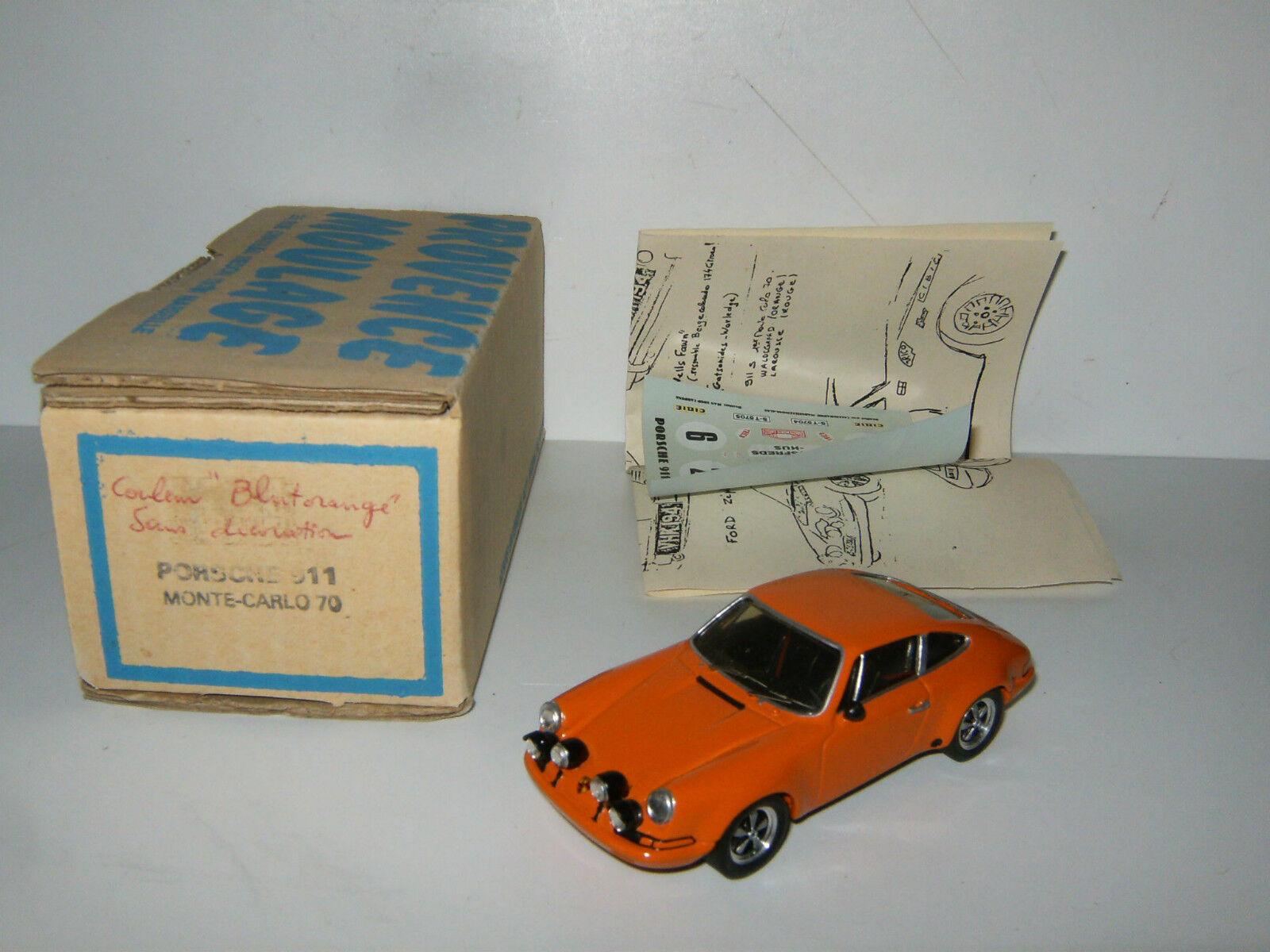 RARE PORSCHE 911 S Orange Monte Carlo 1970 1970 1970 N° 6 Rallye PROVENCE MOULAGE au 1 43 cc0d92
