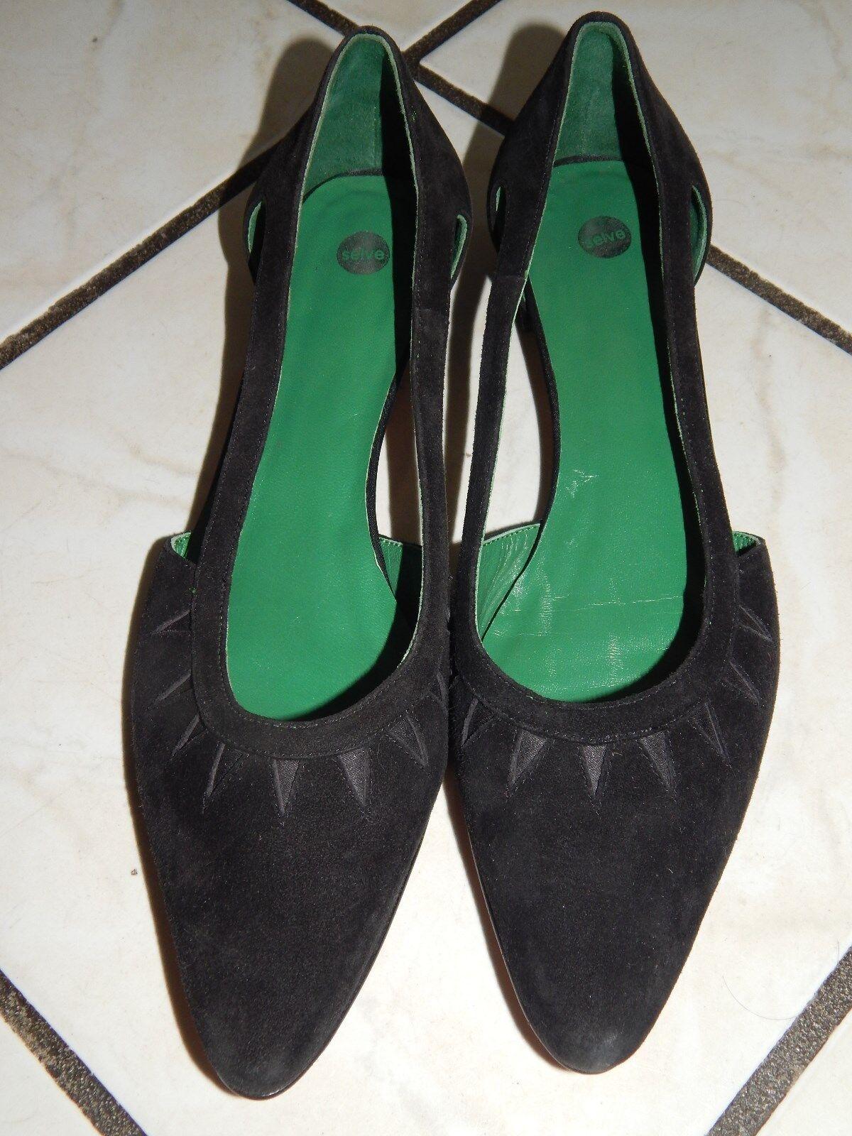 SELVE Loafers Mokassins Halbschuhe Ballerinas Handmade Gr. 38,5 Echt Leder (1)