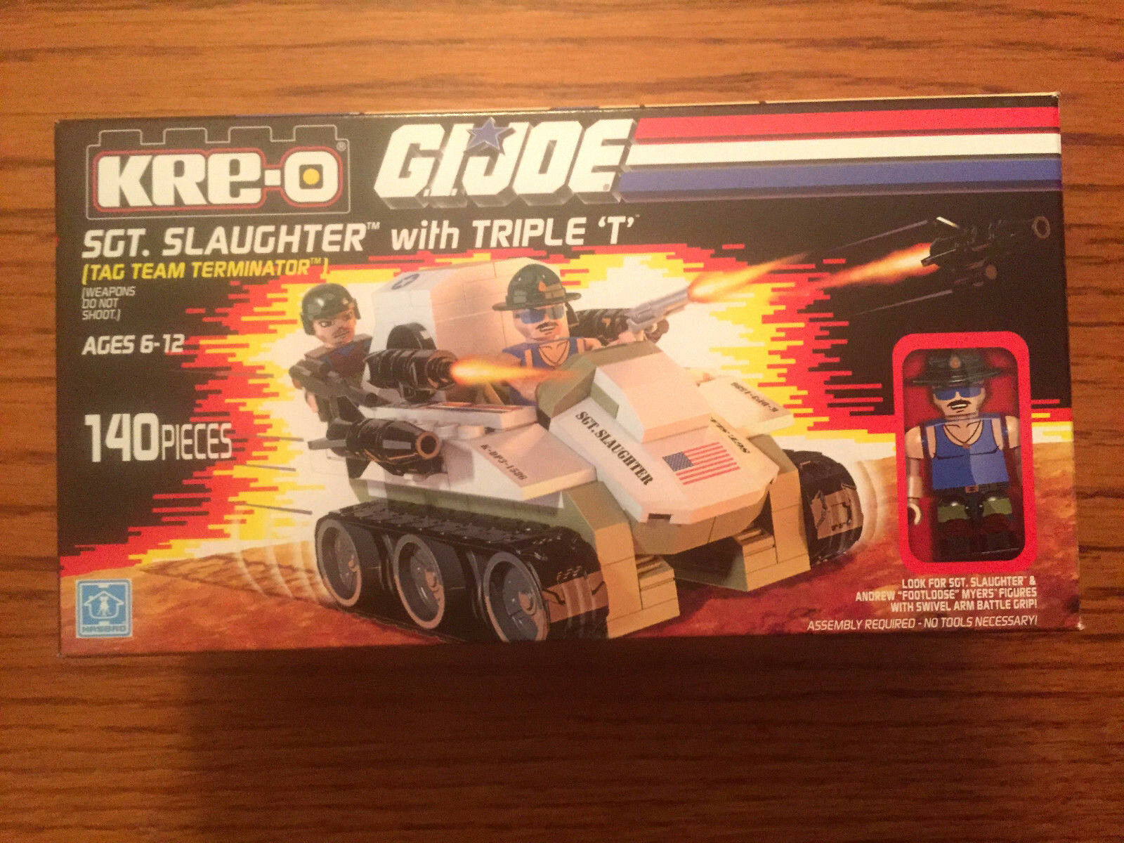 SDCC 2015 Hasbro Exclusive GI Joe Sargeants abat TRIPLE T Kreo loose