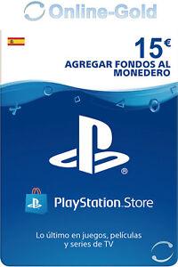PlayStation PSN Tarjeta Prepago 15€ - 15 Euro Sony PS3 PS4 PS Vita Código - ES