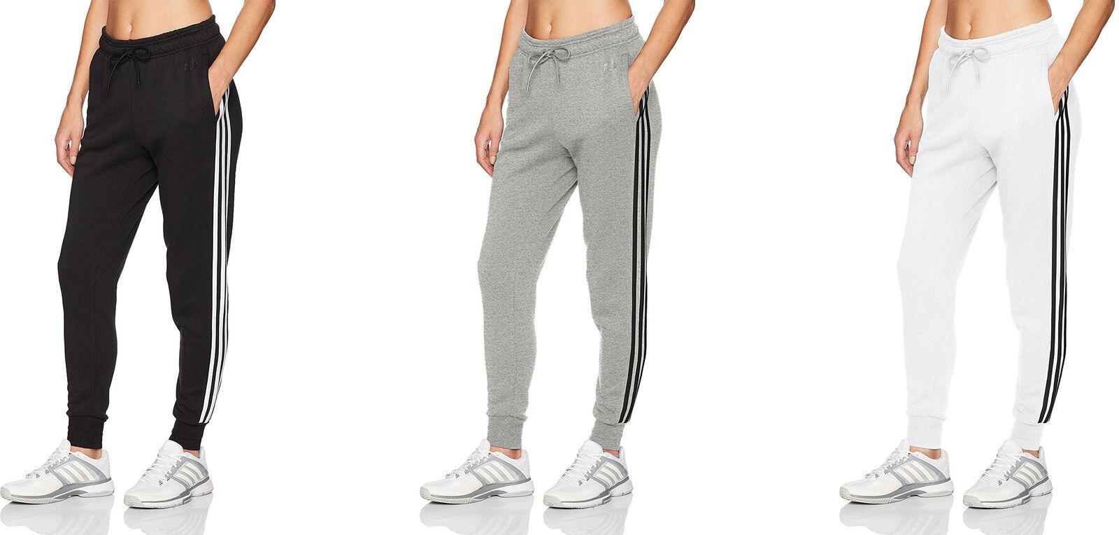 3c4b3c2253b7 adidas Women s Athletics Essential Cotton Fleece 3-Stripe Jogger Pants