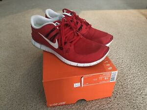 7c0c5ca7815d2 Nike Free Run 5.0 Red Black White Running Shoes Size 15 Pre-Owned