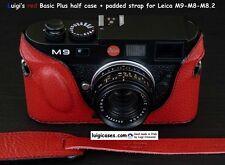 *LUIGI RED BASIC PLUS ITALIAN CASE for LEICA M9,M-E,M8,STRAP,SHIPPING INCLUDED