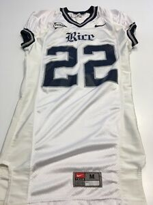 Game Worn Used Nike Rice Owls Football Jersey #22 Simms Size M
