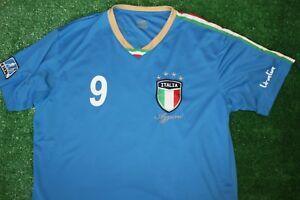 Italia Italy National Team Mario Balotelli 9 Football Soccer Jersey ... 32ec6211c