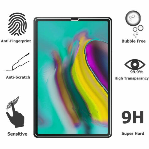 "2 Pack 9H Premium Tempered Glass Screen Protector for Galaxy Tab S6 10.5/"" Inch"