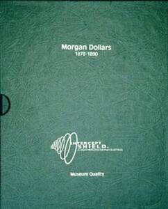 Intercept Shield Coin Album For Silver Morgan Dollars 1878-1890 Free Slipcase