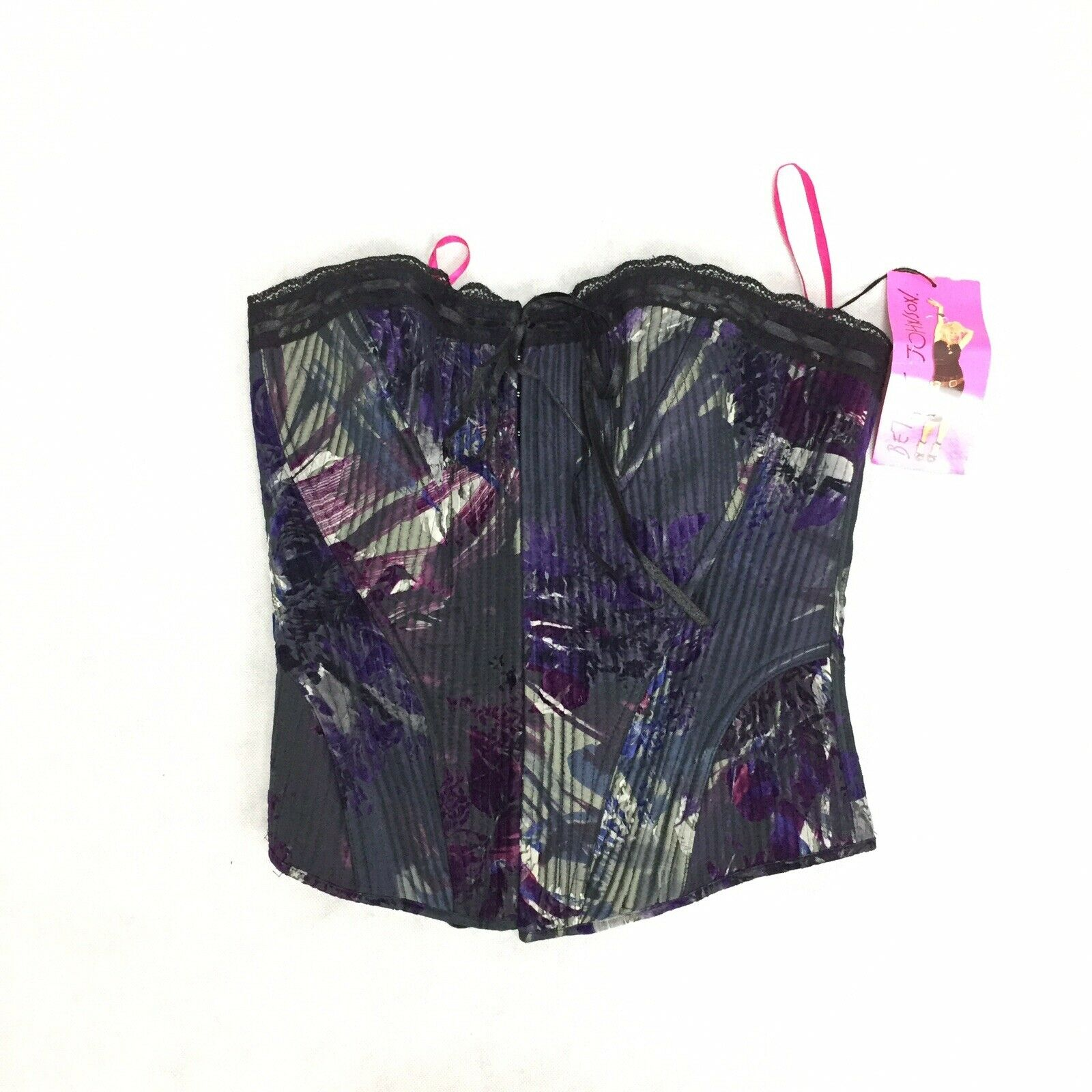 Betsey Johnson Strapless Bustier Corset Top - Size M L